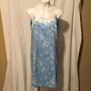 Blue  and white Loft Dress Size 12, never worn